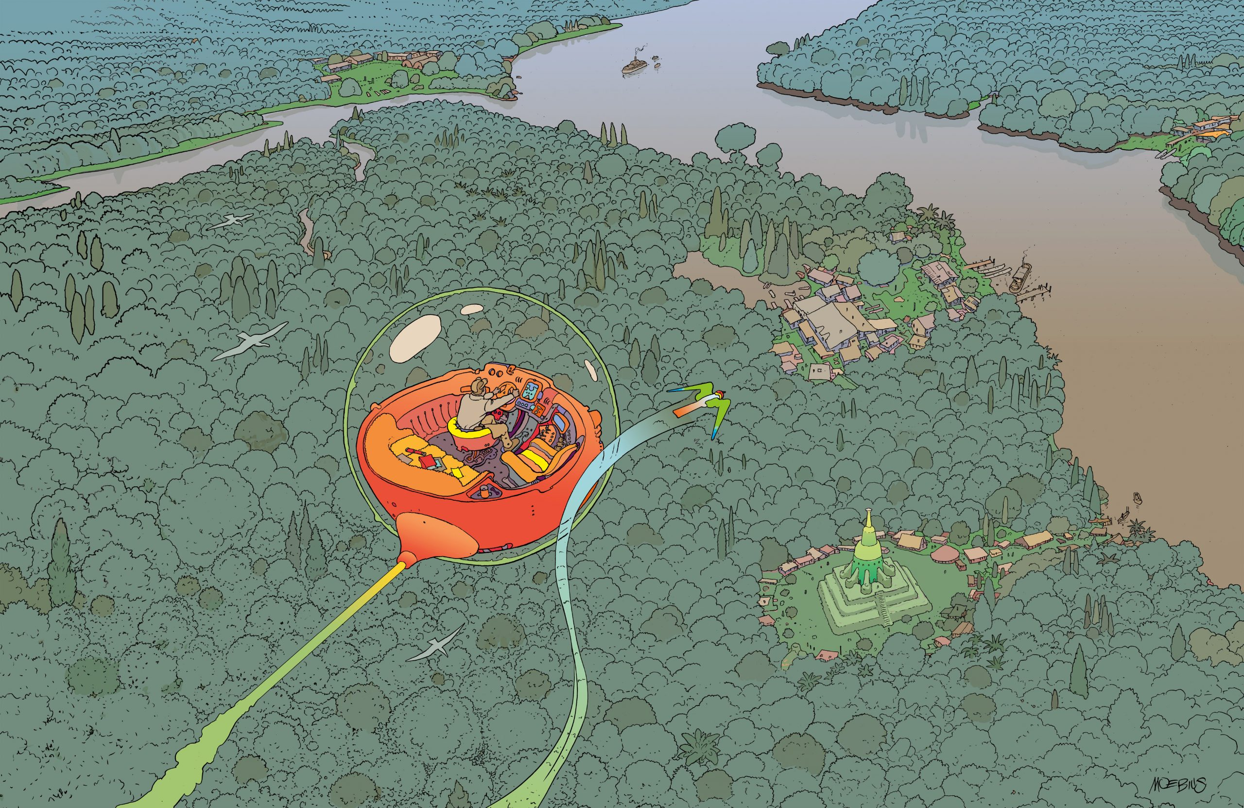 Edena From Above by Moebius